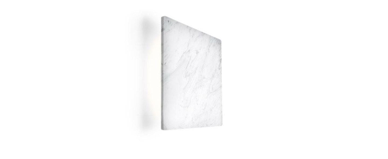 Applique murale miles 2 0 carre blanc marbre led 3000 430 l22cm h22cm wever ducre normal