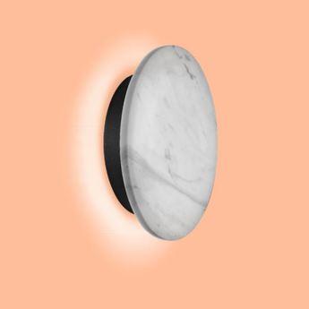 Applique murale miles 2 0 round blanc marbre led 3000 430 o cm h cm wever ducre normal