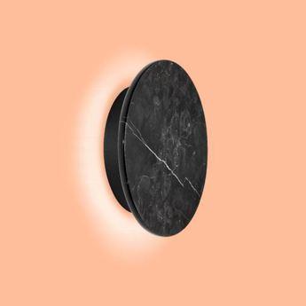 Applique murale miles 2 0 round noir marbre led 3000 430 o cm h cm wever ducre normal
