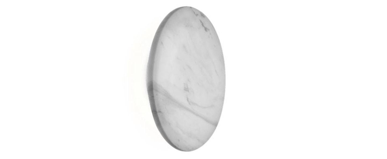 Applique murale miles 3 0 round blanc marbre led 3000 430 o cm h cm wever ducre normal