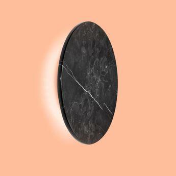 Applique murale miles 3 0 round noir marbre led 3000 430 o cm h cm wever ducre normal