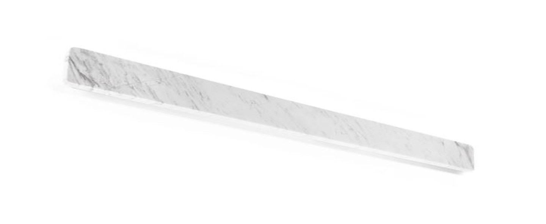 Applique murale miles 9 0 blanc marbre led 3000 1600 l90cm h8cm wever ducre normal