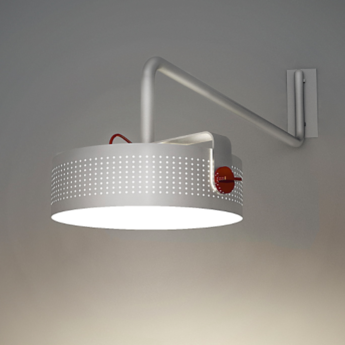 Applique murale modena blanc led o41cm h16cm martinelli luce normal