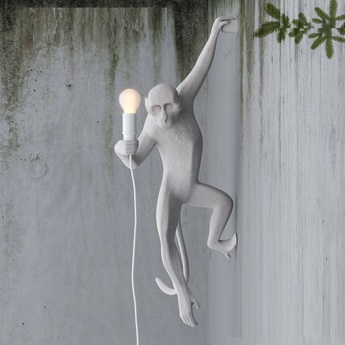 Applique murale monkey hanging blanc h76 5cm seletti normal