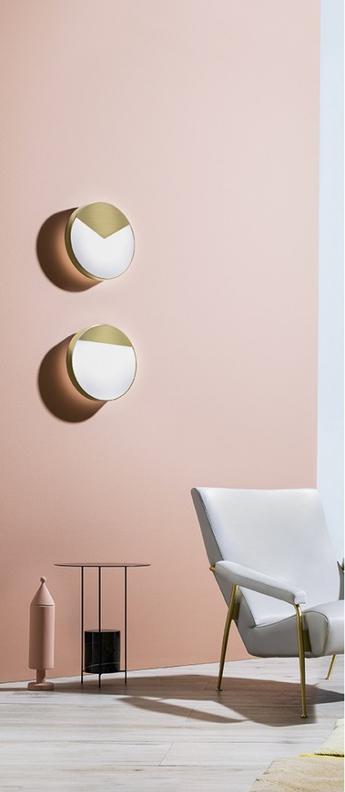 Applique murale moon light blanc laiton led o33cm h33cm mm lampadari normal