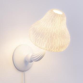 Applique murale mushroom lamp blanc 2700k 350lm l18cm h26cm seletti normal