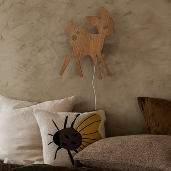 Applique murale my deer lamp chene l29cm h38 5cm ferm living normal
