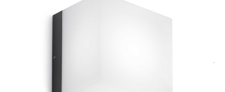 Applique murale naomi gris fonce led 3000k 600lm l20 5cm h20 5cm faro normal