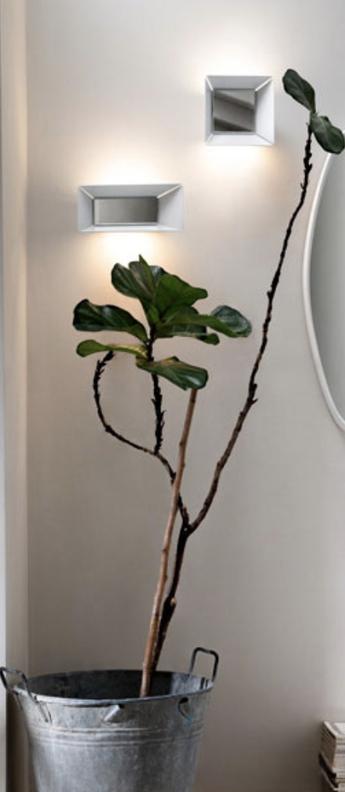 Applique murale narciso blanc l28cm h12cm karman normal