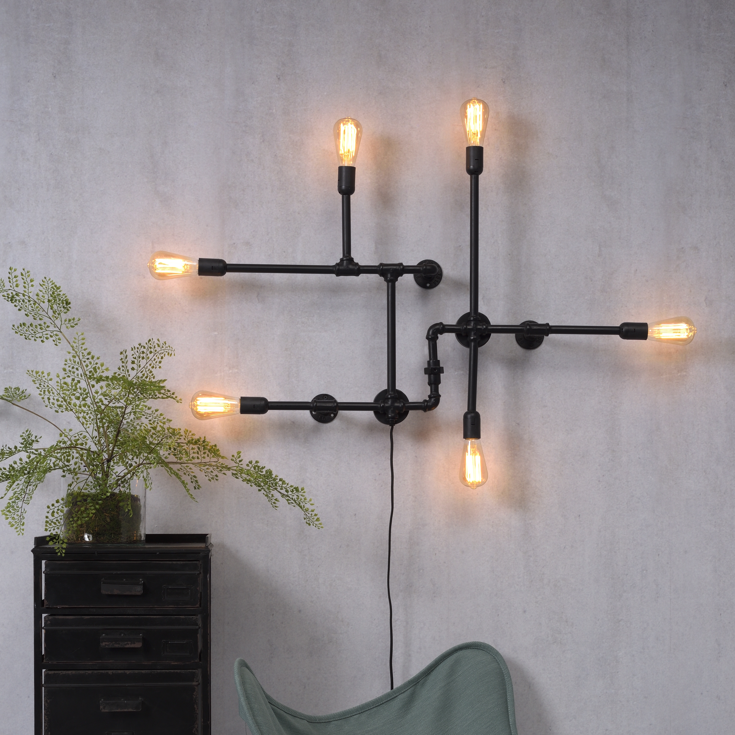 Its About Romi.Wall Light Nashville W Black O52cm H63cm It S About Romi