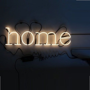 Applique murale neon art home transformateur blanc brillant h17cm seletti normal