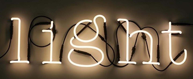 Applique murale neon art light transformateur blanc brillant h17cm seletti normal