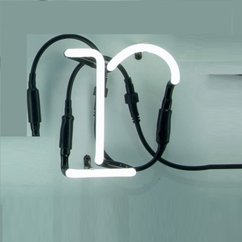 Applique murale neon art r transformateur blanc brillant h17cm seletti normal