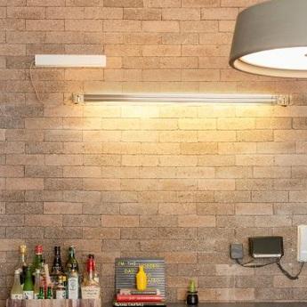 Applique murale neon de luz aluminium led 3000k 2200lm dimmable o94 5cm h5cm marset normal