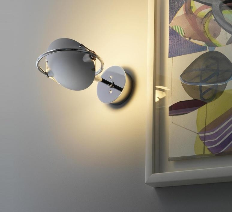 applique murale nobi chrome h23cm fontana arte. Black Bedroom Furniture Sets. Home Design Ideas