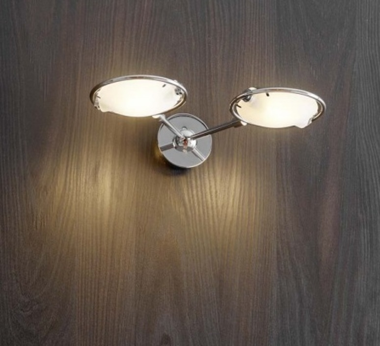Wall light, Nobi, chrome, H25cm - Fontana Arte - Nedgis Lighting