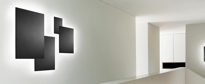 Applique murale noho w1 noir led o12cm h12cm light point normal