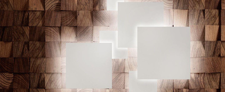 Applique murale noho w5 blanc led o50cm h50cm light point normal