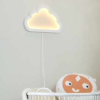 Applique murale nuage cloudy mood light blanc led l43cm h26cm atelier pierre normal