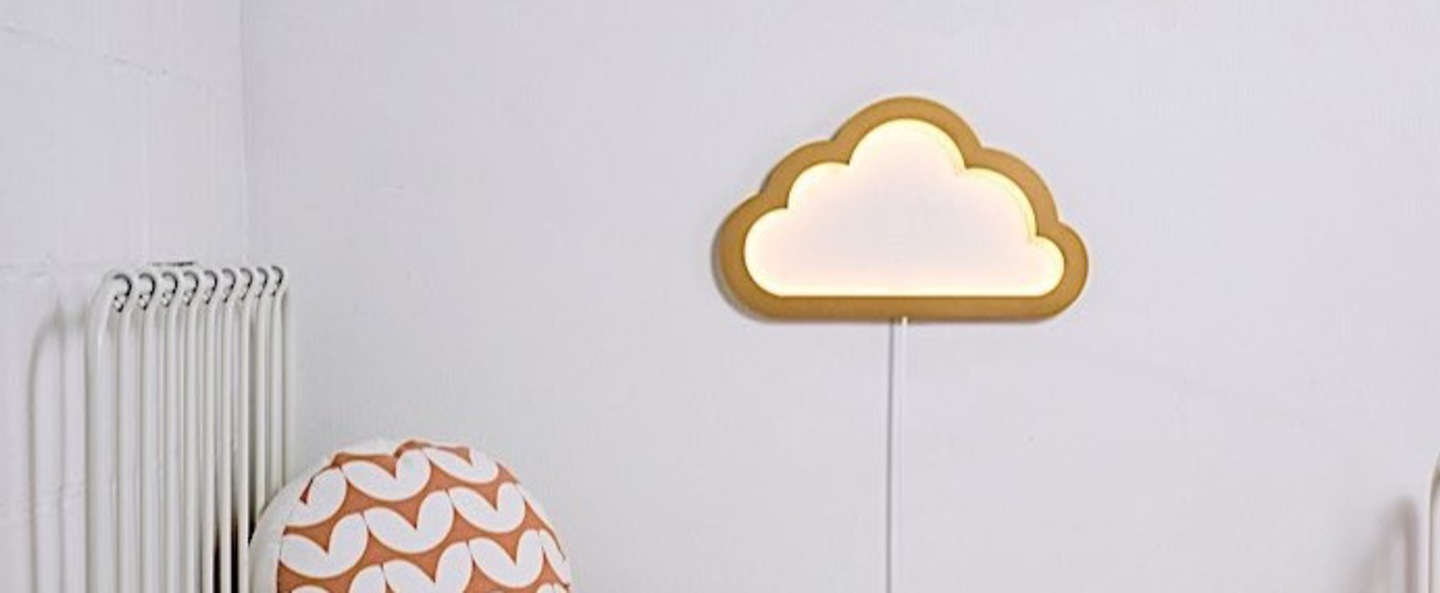 Applique murale nuage cloudy mood light or led l43cm h26cm atelier pierre normal