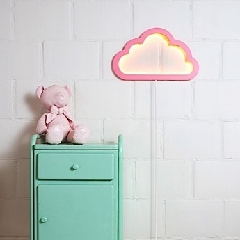 applique murale nuage cloudy mood light rose led. Black Bedroom Furniture Sets. Home Design Ideas