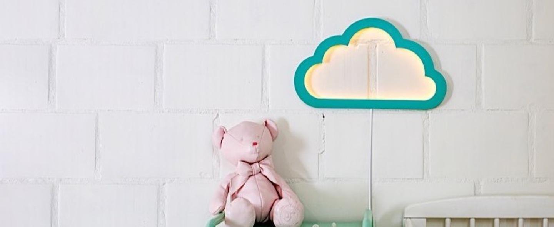 Applique murale nuage cloudy mood light vert led l43cm h26cm atelier pierre normal