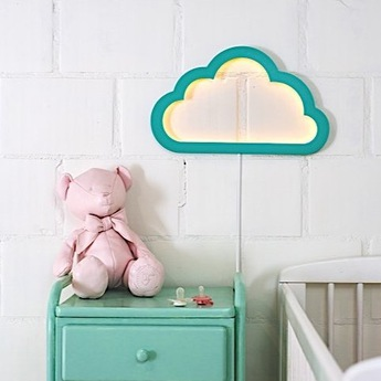 Applique murale nuage cloudy mood light vert led l43cm h26cm atelier pierre normal