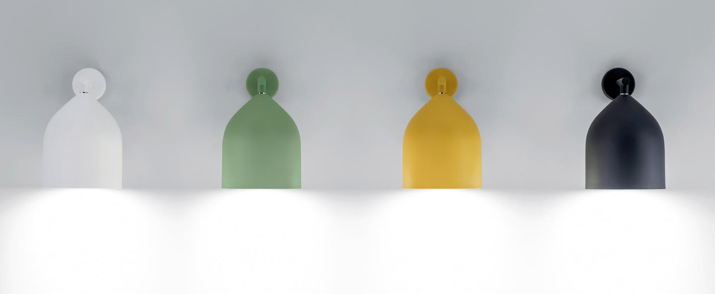 Applique murale odile jaune o20cm h25 8cm lumen center italia normal