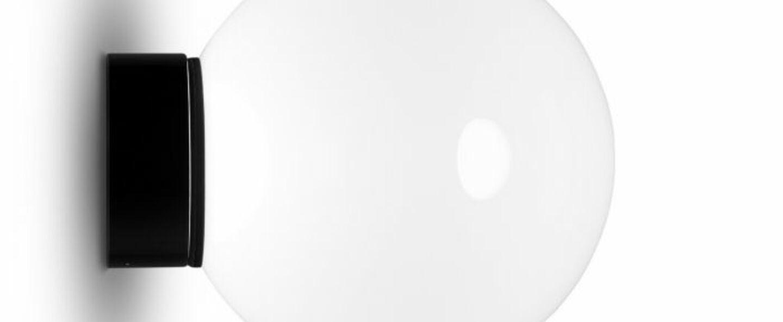 Applique murale opal blanc noir led 3000k 800lm o17cm h28cm tom dixon normal