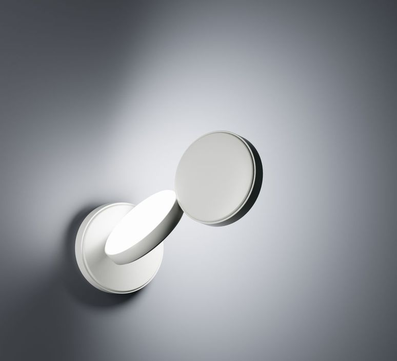 Wall light, Optunia, white, LED, L22,3cm, H26,2cm - Fontana Arte ...