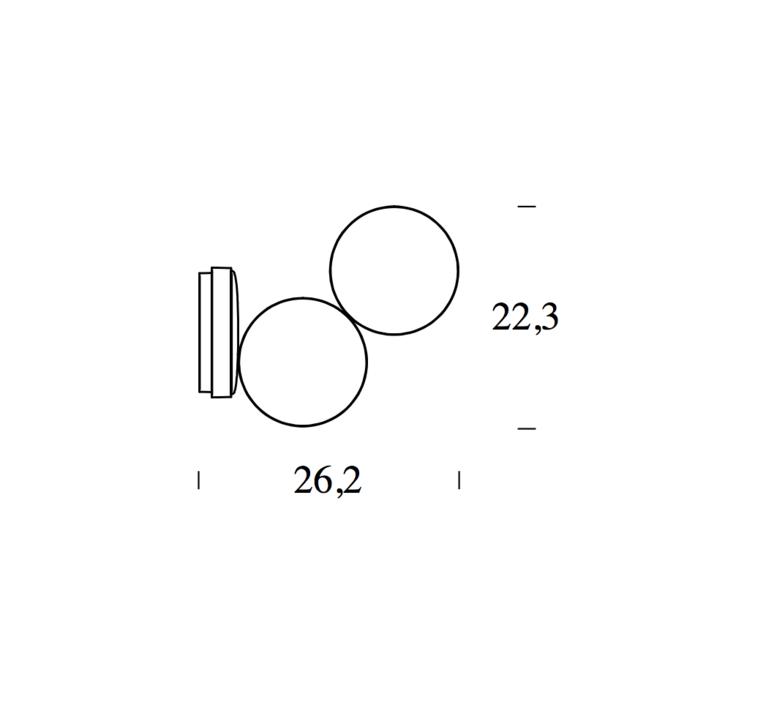 Optunia claesson koivisto rune applique murale wall light  fontanaarte 4377bi   design signed 39331 product