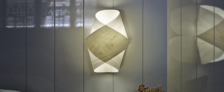 Applique murale orbit blanc ivoire h36cm lzf normal