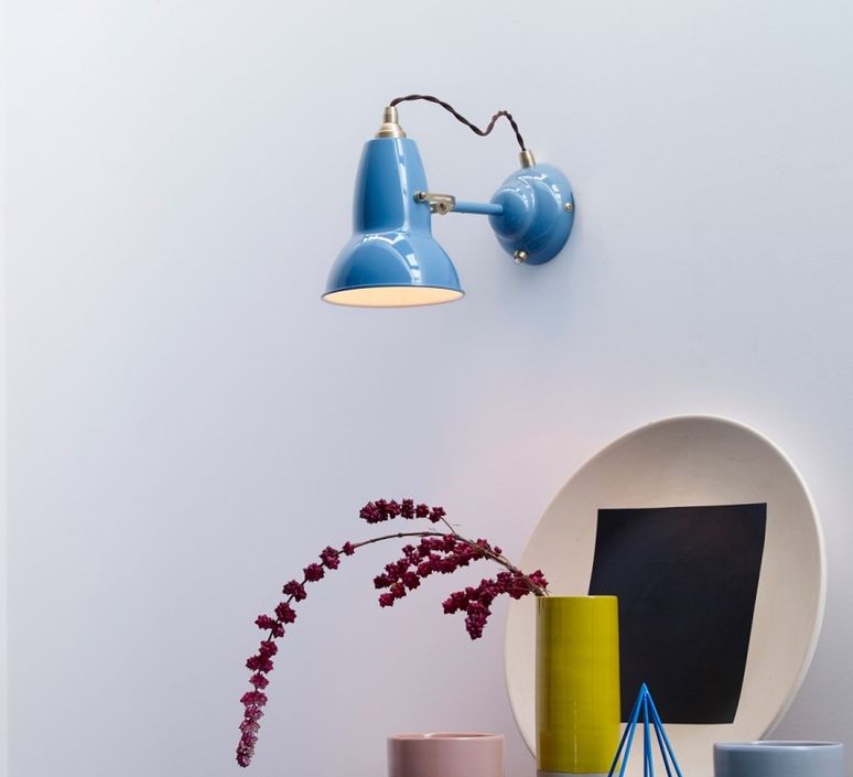 Applique murale original 1227 brass bleu clair 15cm - Luminaire industriel la giant collection par anglepoise ...