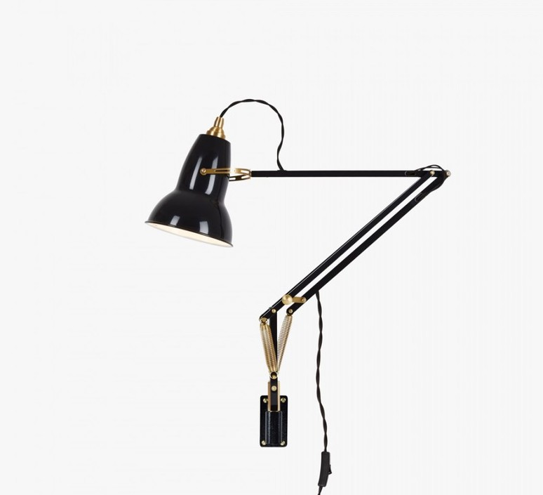 Original 1227 brass george carwardine applique murale wall light  anglepoise 31352  design signed 42310 product