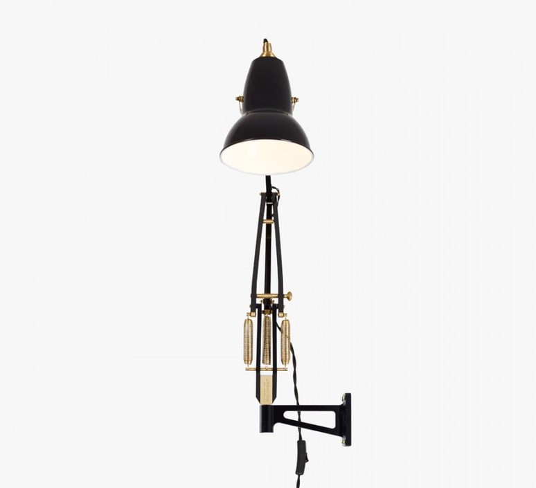 Original 1227 brass george carwardine applique murale wall light  anglepoise 31352  design signed 42311 product