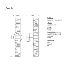 Oscar double daniel gallo applique murale wall light  daniel gallo oscar double  design signed nedgis 87711 thumb