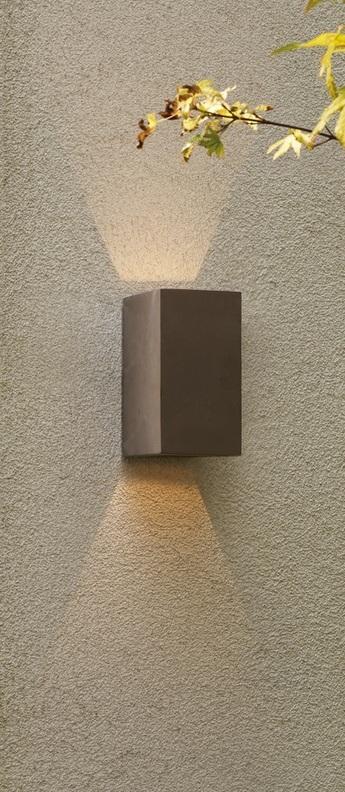Applique murale oslo 160 led beton ip65 led 3001k 118lm l8cm h16cm astro lighting normal