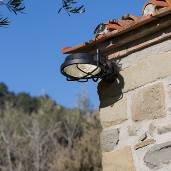 Applique murale out anthracite led o26cm h11cm martinelli luce normal