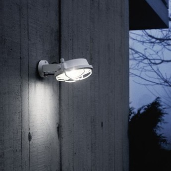 Applique murale out blanc led o26cm h11cm martinelli luce normal