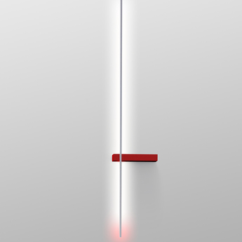 Applique murale outline blanc rouge led l105cm hcm lumen center italia normal