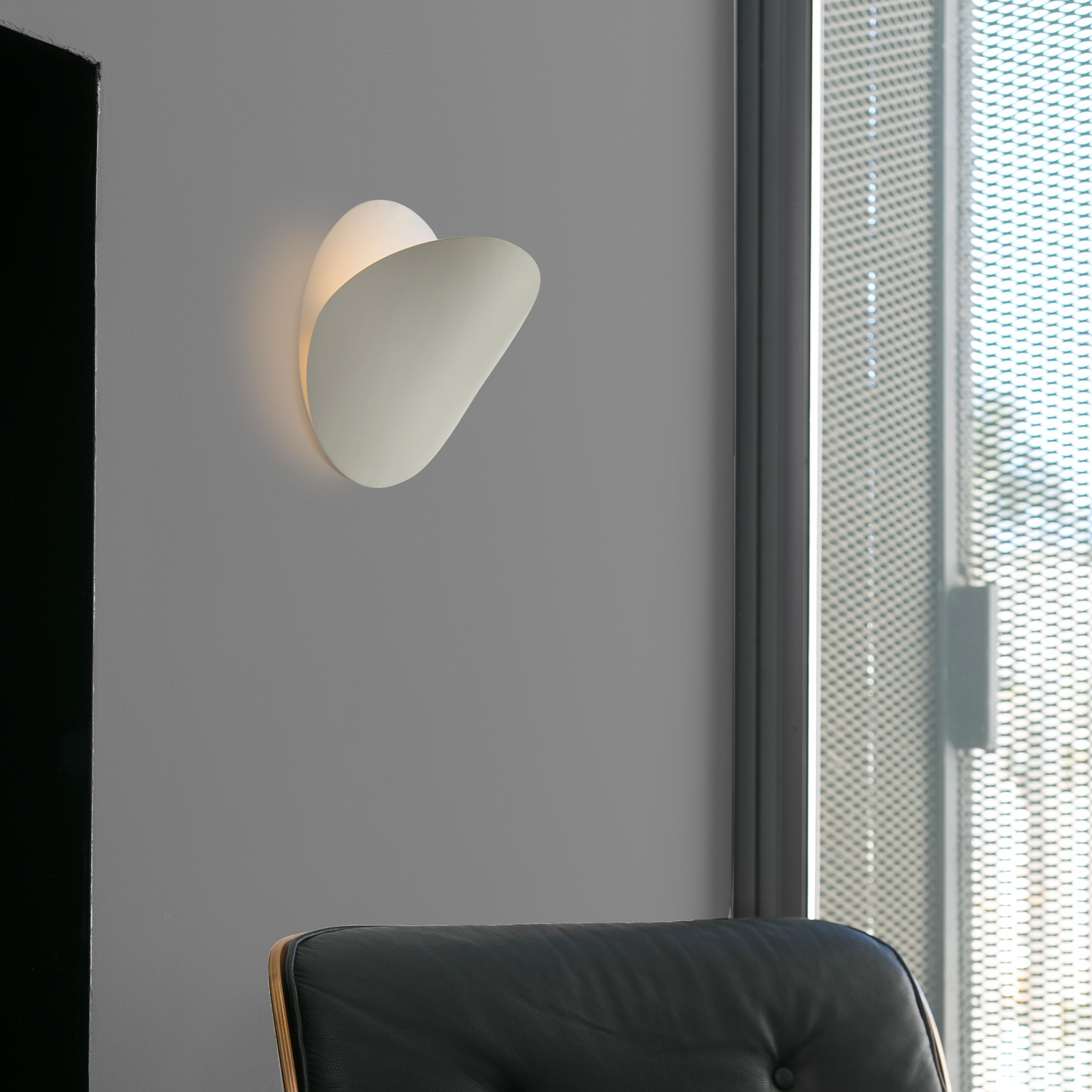 applique murale ovo blanc 24cm faro luminaires nedgis. Black Bedroom Furniture Sets. Home Design Ideas