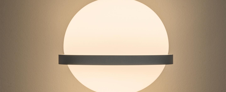 Applique murale palma 3710 graphite 0led 2700k 685lm l22cm h55cm vibia normal