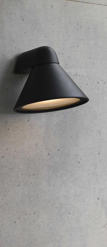 Applique murale pals gris ip65 l25cm h26cm faro normal