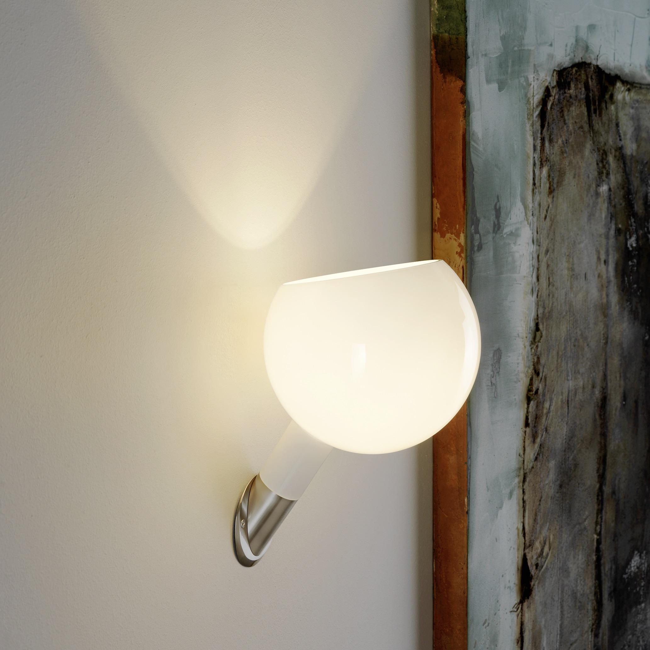 Wall light, Parola , white, H30cm - Fontana Arte - Nedgis Lighting