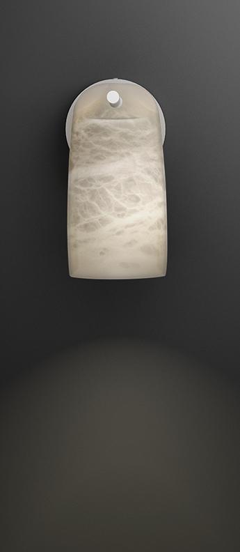 Applique murale paros alabaster blanc l20cm h19cm alma light normal