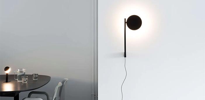 Applique murale pastille br2 noir graphite led 2700k 690lm l17cm h42 7cm wastberg normal