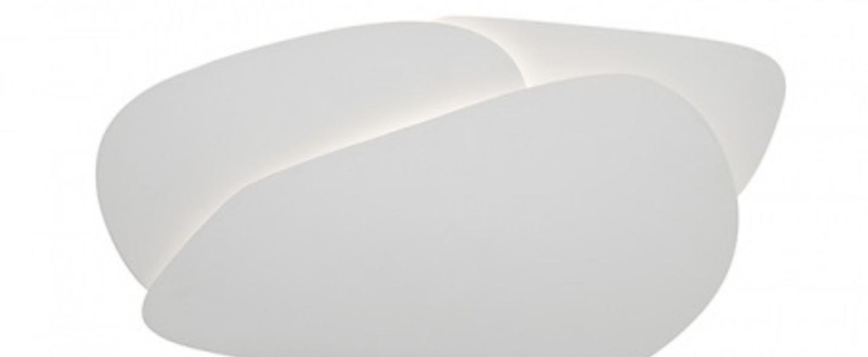 Applique murale pedra blanc led 3100k 1800lm l60cm h32cm carpyen normal