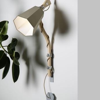 Applique murale petit luxiole kaki blanc h90cm designheure normal