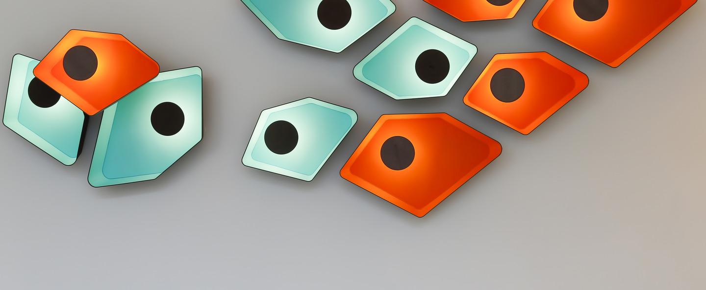 Applique murale petit nenuphar orange gris l90cm led designheure normal