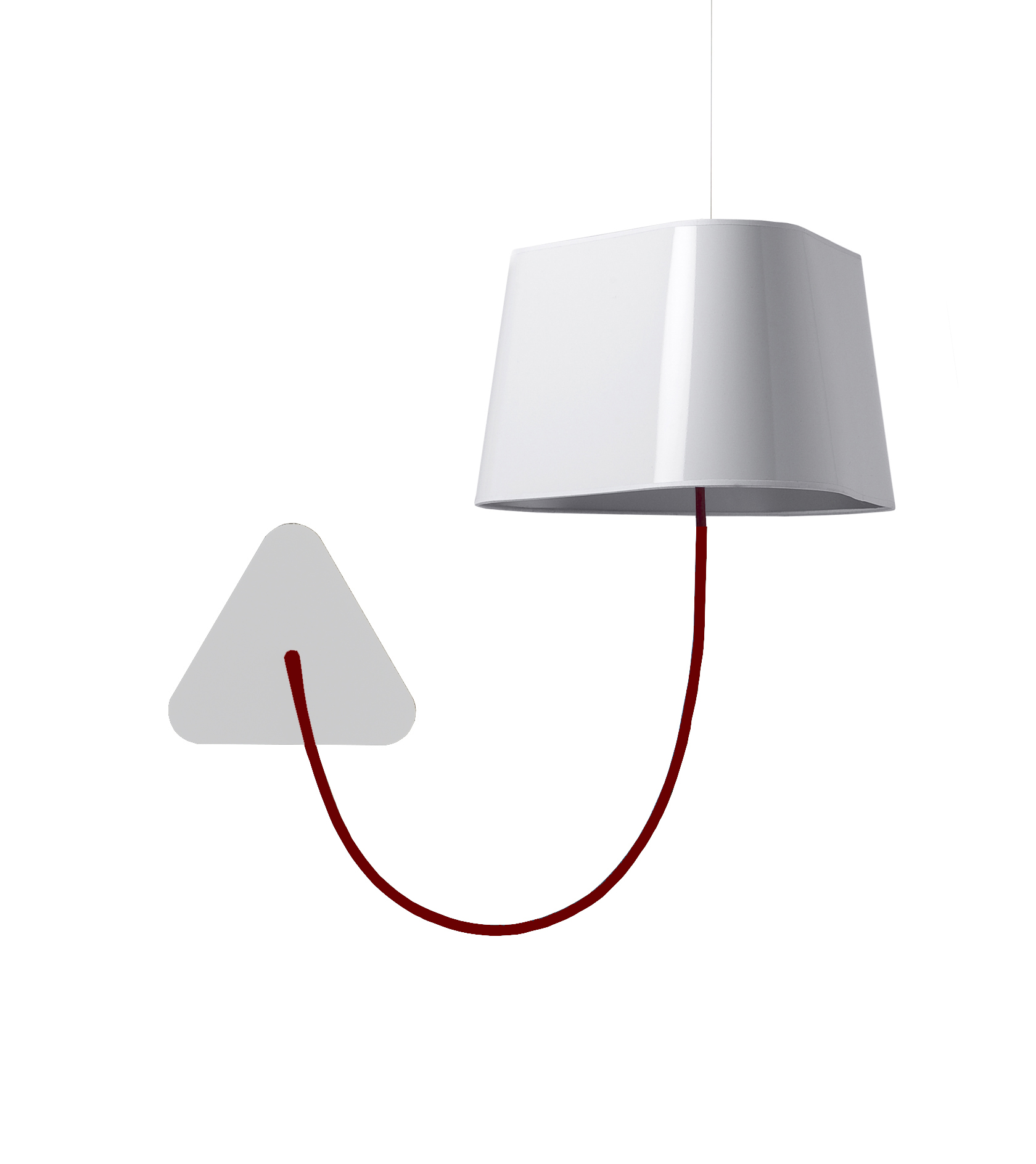 applique suspendue petit nuage blanc rouge 24cm designheure luminaires nedgis. Black Bedroom Furniture Sets. Home Design Ideas